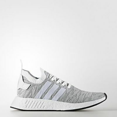 a4d450ac16cab NEW MEN S ADIDAS Nmd R2 Primeknit Shoes  By9410  White  white-Black ...