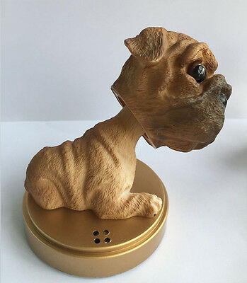Shar Pei Dog/Brown Bobbing Head Dogs/ BobbleHead Doll Toy+Pedestal+Essence Bag
