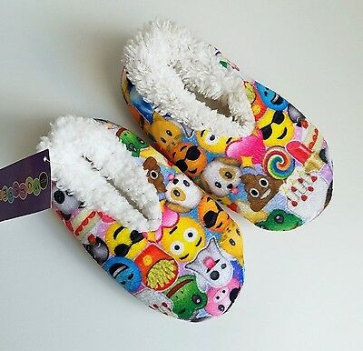 Emoji Kid's Toddler Collage Slippers Pantoufles by Iscream Size Small (13-1)