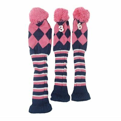 Classic knit Pom Headcover 3 Headcovers cover Golf Club head cover OS427   ?1...