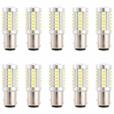 6 X BAY15D 1157 Car Tail Stop Brake Light Super Bright 33 SMD LED Bulb 12V White