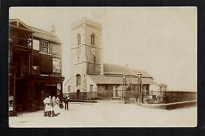 Elland - Church and Village view - real photographic postcard