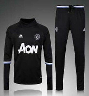 16-17 Manchester United football training suit suit black jersey