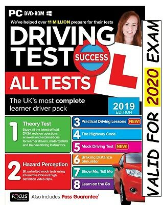Driving Theory Test & Hazard Test - CAR. PC DVD CD ROM - NEW 2019 ATpc
