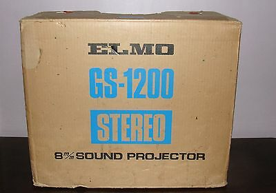 Elmo GS-1200 Stereo Super 8 Magnatic & Optical SOUND Movie Projector  LOADED