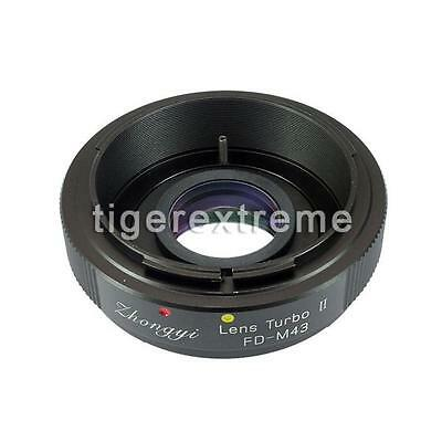 Upgraded version Lens turbo II Adapter for Canon FD Lens to M4/3(MFT) BMPCC