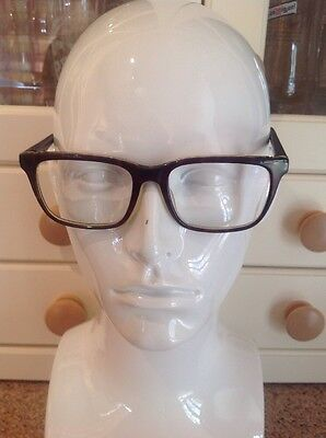 Specsavers Rocky Mens Brown/black Prescription Glasses Frames With Case Used