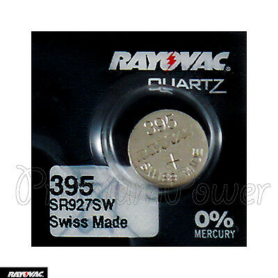 1 x Rayovac 395 battery Silver Oxide 1.55V 399 SR927SW SR57 Watches Swiss