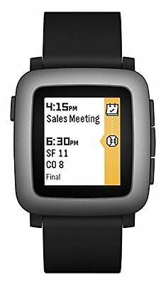 Pebble Time Smartwatch for Apple or Android Black - Free Shipping (Brand New)