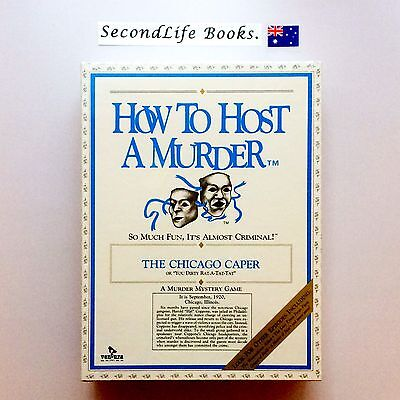 (Vintage) HOW TO HOST A MURDER ~ Chicago Caper (1986). Murder Mystery. SEALED.