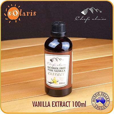 1x 100mL Chef's Choice Alcohol Free Pure Vanilla Extract All Natural Ingredients