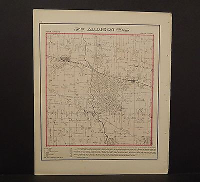 Illinois Du Page County Map Addison Township  1874 K13#72
