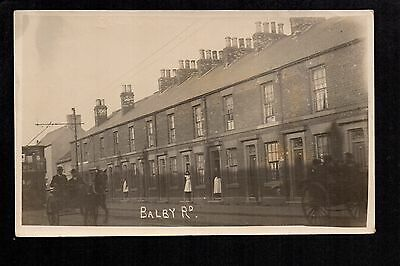 Doncaster - Balby Road - real photographic postcard