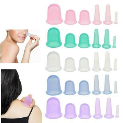 6pcs/set Silicone Anti Cellulite Massage Vacuum Cupping Body Facial Cups Therapy