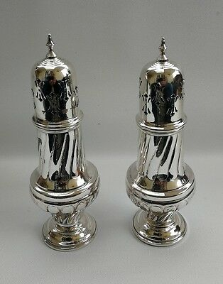 Vintage Pair of Large Sheffield Silver Plate On Copper Icing Sugar Sifters