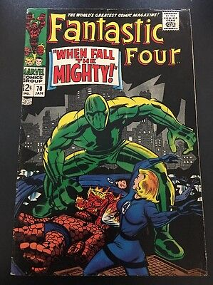 Fantastic Four Vol 1 # 70 Cents Issue, Silver Age FN