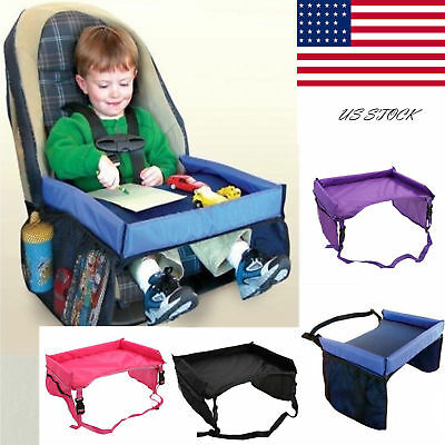 Baby Safety Travel Tray Drawing Board Table Kids Car Seat Snack Waterproof US