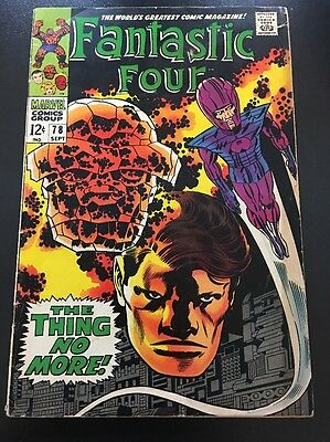 Fantastic Four Vol 1 # 78 Cents Issue, Silver Age
