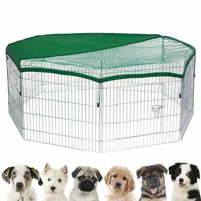 8 Panel Pet Playpen Dog Cage Puppy Exercise Enclosure Rabbit Fence cover