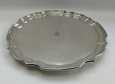 Vtg RAF Far East Airforce Angora Silver Plate Round Cocktail Drinks Tray Salver