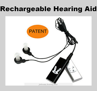 Digital Rechargeable Hearing Aid Powerful Sound Mini Device Moderate Severe Loss