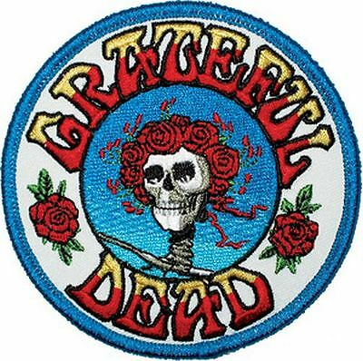 Grateful Dead - Skull & Roses - Embroidered Patch - Brand New - Music Band 1228