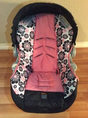 EVENFLO Embrace Baby Car Seat Cover Cushion Canopy Set Part Pink Girl Infant