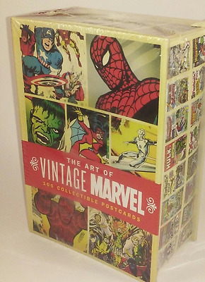 NEW UNOPENED THE ART OF VINTAGE MARVEL 100 Collectible Postcards