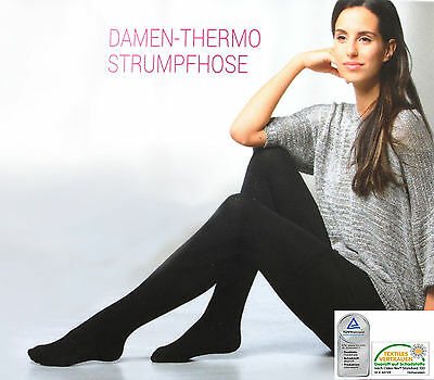 Damen Thermo Leggings Weich Warm Strumpfhose Blickdicht Dick  Fleece Winter
