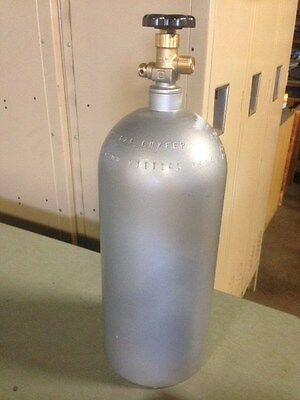 10 lb. Aluminum CO2 Cylinder Tank Reconditioned - Fresh Hydro Test  CGA320 Valve