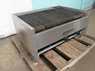 """american Range"" H.d. Commercial  34"" Lava Rocks Natural Gas Charbroiler"