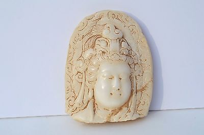 Gorgeous Antique Hand Carved Marble Statue Kwan Yin Guanyin Fragment 古董雕刻的大理石观音