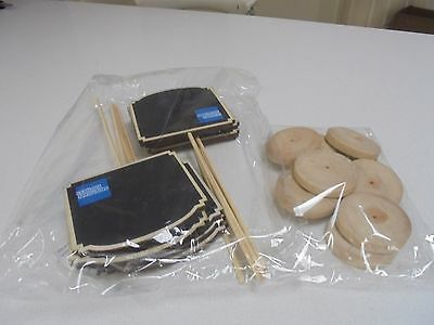 American Express Table Number Stands wooden base blackboard panels Blank