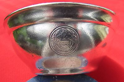 """1946 Clift Hotel Porridge Cereal Bowl By Reed & Barton Silver Plated 4 3/4"""" Dia"""