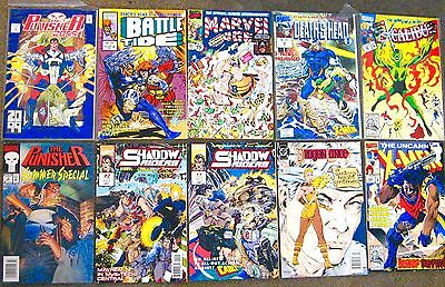 Lot of 10 Comic 9 Marvel 1 DC All different Years.