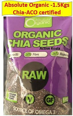 Absolute Organic Chia Seeds 1.5kg - Organic Chia Seeds - Chiaseed