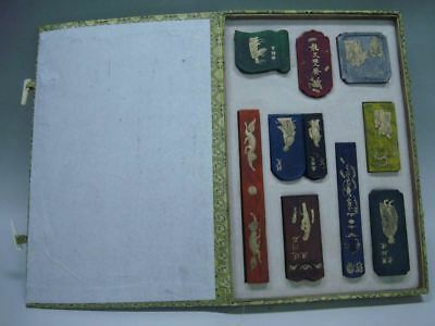 A Set of 10PCS Rare Quality Old Chinese Ink Sticks Collection Marks QA037