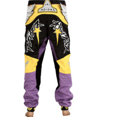 Adidas Originals X Jeremy Scott ObyO JS Purple & Yellow Wings Moto Track Pants