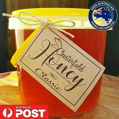 100% Pure Australian Honey Raw Organic 3kg - Direct from the Beekeeper
