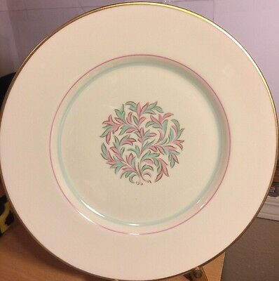 """4 Franciscan China, Made In California, ROSSMORE 10 1/2"""" Dinner Plates"""