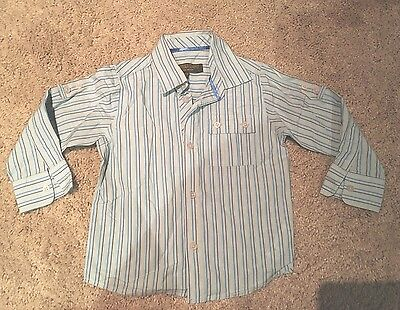 Gorgeous Ted Baker Boys Stripe Shirt Worn Once To A Wedding 18-24 Months