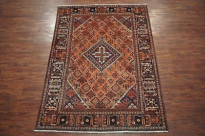 7X10 Persian Antique Joshaghan Area Rug Hand-Knotted Oriental Wool (6.11 x 10)