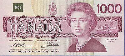 "Canada 1000 Dollars ""Replacement"" Banknote 1988 AU/ChEF Condition Cat#100-A"