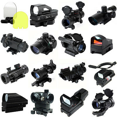 LIVABIT 45 Degree Holographic Red Green DOT Reticle Reflex Sight Scope Hunting