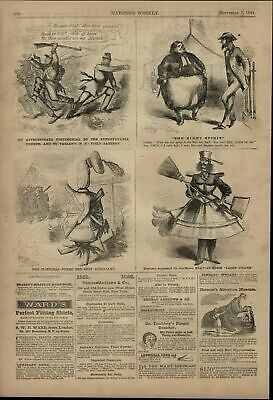 Soldiers Running Home Light Guard Costume Loan 1861 great old print for display