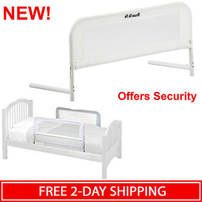 Convertible Crib Bed Rail Protector Toddler Infant Baby Safety Guard Bedrail New