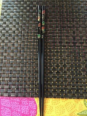 Japanese Multi Color Fans   Chopsticks  With Free Silk Holder