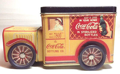 Coca-Cola Truck Collector's Tin Drink Wheels 1996 Coke Bottling    FREE SHIP