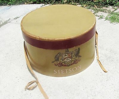 VINTAGE LARGE OVAL 14.5 x 13 STETSON HAT BOX