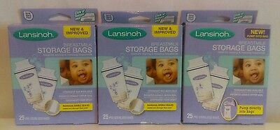 Lansinoh Breastmilk Storage Bags 25CT Pack of 3